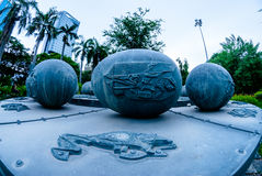 Piscis astrological monument in Lumphini park, Bkk Stock Photos