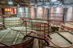 Pisco Capel Production Facility. VICUNA, CHILE - JUNE 17: Interior of the Pisco Capel production facility in Vicuna, Chile on June 17, 2014.  Capel is the Royalty Free Stock Images