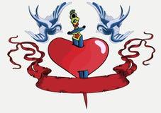 Pisco de peito vermelho 08 do tatuagem Fotos de Stock