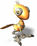 Pisco de peito vermelho do robô Imagem de Stock Royalty Free