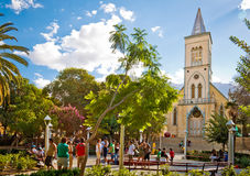 Pisco elquis's square and its church Stock Photography
