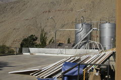 Pisco sour distillery in Pisco Elqui. View of Pisco sour distillery in Pisco Elqui stock photography