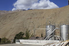 Pisco sour distillery in Pisco Elqui. View of Pisco sour distillery in Pisco Elqui royalty free stock images