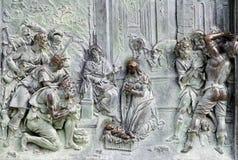 Pise - huche de porte de cathédrale Photographie stock