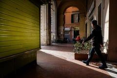 Pise, Italie - 26 février 2017 : Les chambres fortes du portique de pi Photo libre de droits