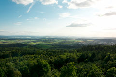 Pisek - Jarnik lookout tower view Royalty Free Stock Images