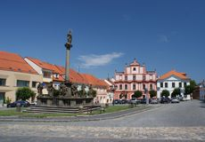 Pisek oldtown square Royalty Free Stock Images