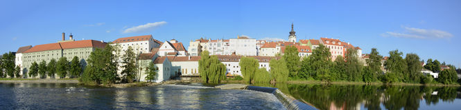 Pisek, Otava river, panorama Royalty Free Stock Image
