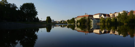 Pisek, Otava river, panorama Royalty Free Stock Images