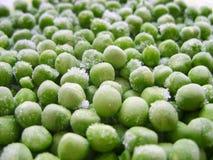 Piselli congelati Azione fresche della foto di struttura di agricoltura dell'alimento di colore verde dei piselli Immagini Stock