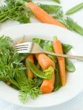 Piselli e carota. Fotografia Stock Libera da Diritti