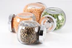 Piselli e lenticchie Fotografia Stock Libera da Diritti