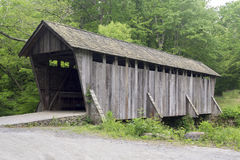 Pisgah covered bridge. A photograph of  it is a wooden bridge with a shake shingle roof bridges was originally built in 1911. In 1998 or early 1999 the bridge Royalty Free Stock Images