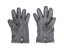 piskar svarta handskar för bakgrund white Royaltyfria Foton