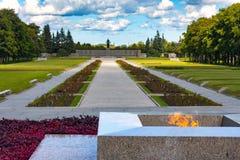 Piskarevsky纪念公墓,圣彼德堡,俄罗斯- 8月 库存照片