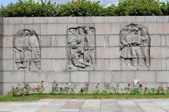 Piskaryovskoye memorial cemetery in Leningrad.  Royalty Free Stock Images