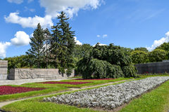 Piskaryovskoye memorial cemetery in Leningrad.  Royalty Free Stock Photos