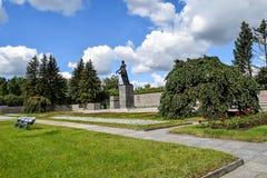 Piskaryovskoye memorial cemetery in Leningrad Stock Photos