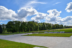 Piskaryovskoye memorial cemetery in Leningrad Stock Image
