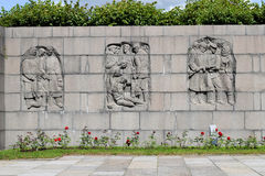 Piskaryovskoye minnes- kyrkogård i Leningrad Royaltyfria Bilder