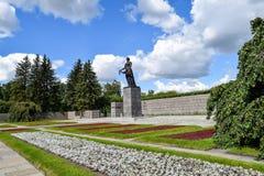 Piskaryovskoye minnes- kyrkogård i Leningrad Arkivfoto