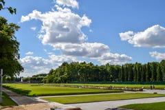 Piskaryovskoye minnes- kyrkogård i Leningrad Royaltyfri Foto