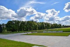 Piskaryovskoye pamiątkowy cmentarz w Leningrad Obraz Stock