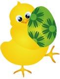 Pisklęca przewożenia Wielkanocnego jajka ilustracja ilustracja wektor