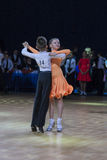 Pislyak Michail and Parhimovich Mariya perform Juvenile-1 Standard European program Royalty Free Stock Image