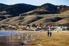 Pismo Beach και αποβάθρα στοκ εικόνες