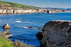 Pismo Beach Rugged Coastline Royalty Free Stock Photos