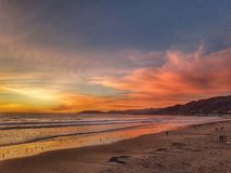 Pismo Beach in sunset, is beautiful royalty free stock photos