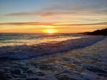Pismo Beach Sunset Stock Images