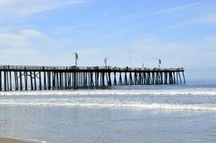 Pismo, playa, embarcadero Foto de archivo
