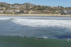 Pismo strandstad arkivfoto