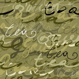 pismo zielona herbata royalty ilustracja