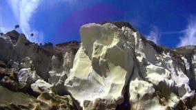 Pismostrand Californië - Witte Klippen PANr stock videobeelden