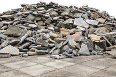 Piso concreto quebrado aislado en blanco Fotos de archivo libres de regalías