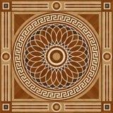 Piso de entarimado del diseño del medallón, textura inconsútil de madera stock de ilustración