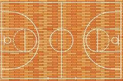 Piso de la cancha de básquet con el fondo de madera de la textura Ilustración del vector libre illustration