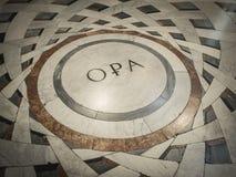 Piso de la catedral de Florencia Fotos de archivo libres de regalías
