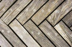 Piso de madera Foto de archivo libre de regalías