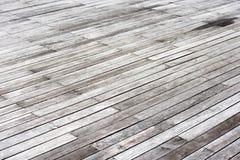 Piso de madera al aire libre gris viejo Imagen de archivo