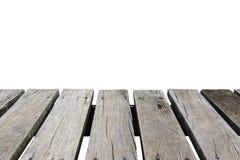 Piso de madera con el fondo aislado imágenes de archivo libres de regalías