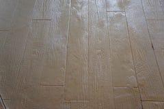 Piso de madera concreto sellado del tablón Imagen de archivo libre de regalías