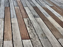 Piso de madera del embarcadero Imagen de archivo libre de regalías