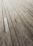 Piso de madera del embarcadero Foto de archivo libre de regalías