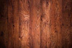 Piso de madera del marrón oscuro Fotografía de archivo