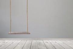 piso de madera del oscilación y de madera Fotos de archivo