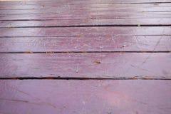 Piso de madera de la textura vacante, tono p?rpura oscuro, fondo fotografía de archivo libre de regalías